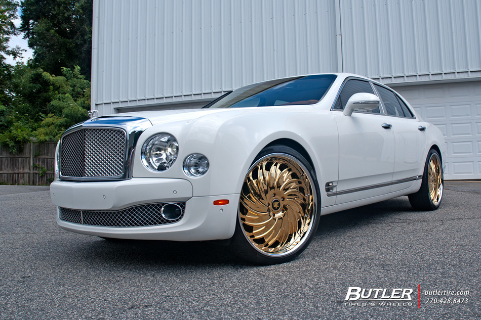 Bentley Mulsanne With 24in Savini Diamond Prali Wheels And Pirelli P Zero Nero Tires 14