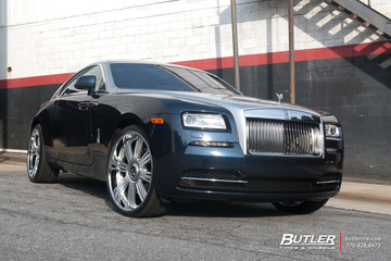 Rolls Royce Wraith on 24in Lexani Forged LF755 Wheels