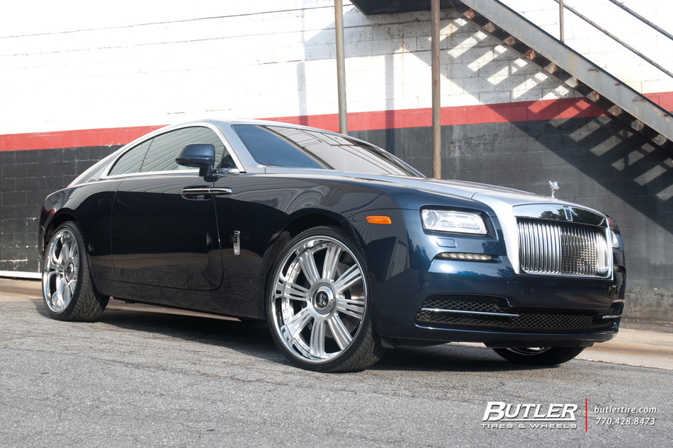 Rolls Royce Wraith With 24in Lexani Lf755 Wheels And Toyo Proxes 4 Tires 29