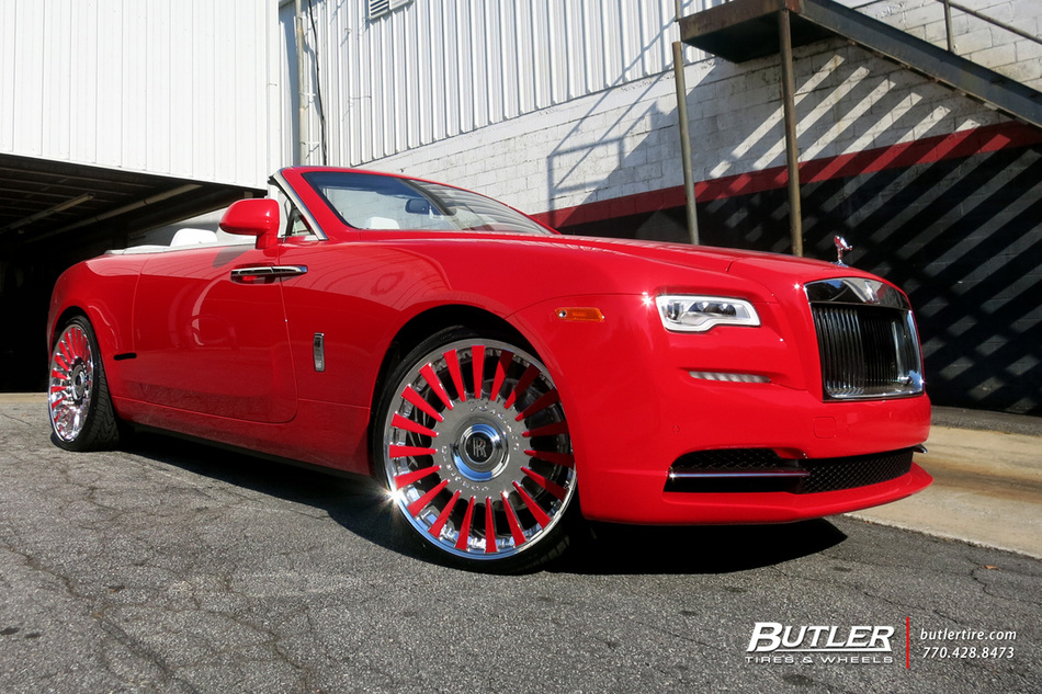 Rolls Royce Dawn On 24in Forgiato Calibro Wheels