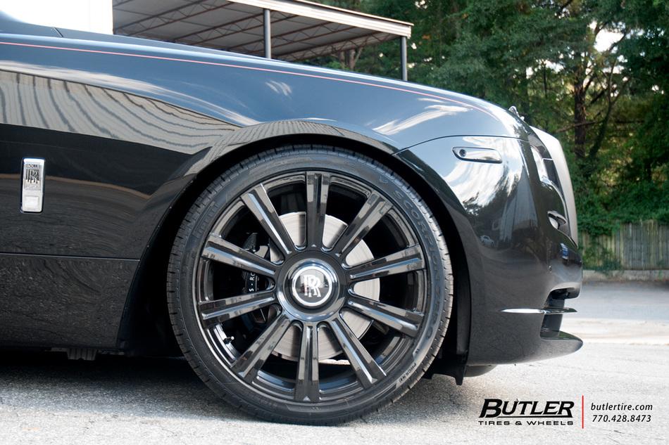Lowered Rolls Royce Wraith On 22in Ag Luxury Agl11 Wheels Trending