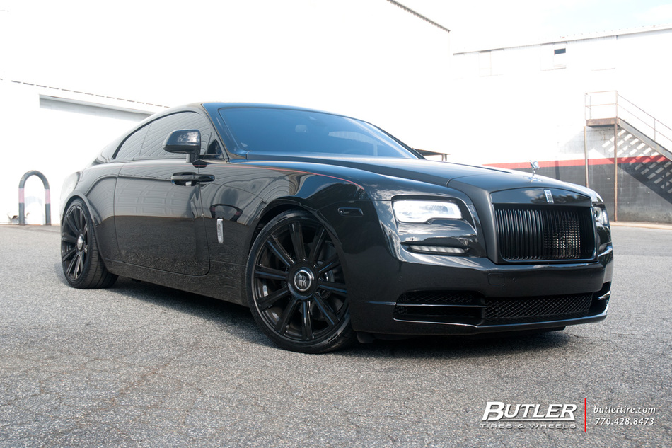 Rolls Royce Wraith With 22in Ag Luxury Agl11 Wheels And Pirelli Tires 4