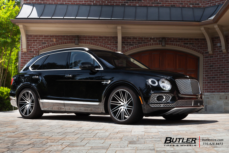 Bentley Bentayga With 22in Vossen Vps 307 T Wheels And Pirelli Tires 9