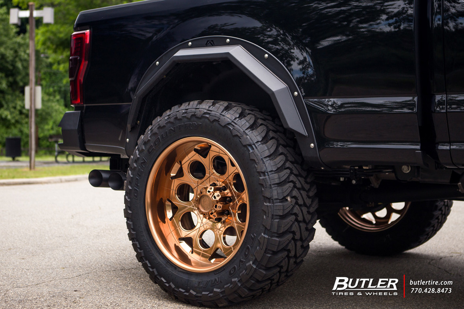 Super Duty Headlights >> #40sNOLIFT Ford F350 Super Duty on 24in Grid Off-Road GF7 Wheels - Trending at Butler Tires and ...