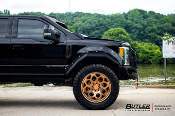 #40sNOLIFT Ford F350 Super Duty on 24in Grid Off-Road GF7 Wheels