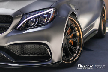 Monster Mercedes C63S AMG Coupe Edition 1 on AG Luxury AGL43 Wheels