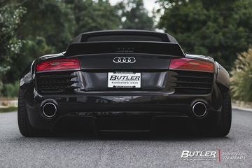 Slammed Liberty Walk Widebody Audi R8 Spyder with Savini SV75 Wheels and Michelin Pilot Sport 4s Tires