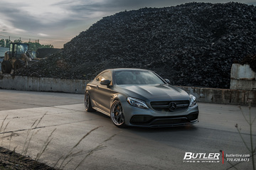 Lowered Renntech Edition 1 Mercedes C63S Coupe on 21in Vossen S21-01 Wheels