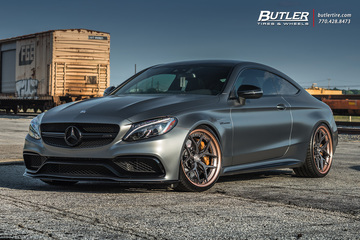 Edition 1 Mercedes C63s Coupe on custom Vossen S21-01 Wheels is anything but subtle