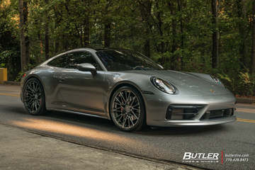 2020 Porsche 992 911 Carrera S with 22in AG Luxury AGL58 Wheels and Continental SportContact 6 Tires 2