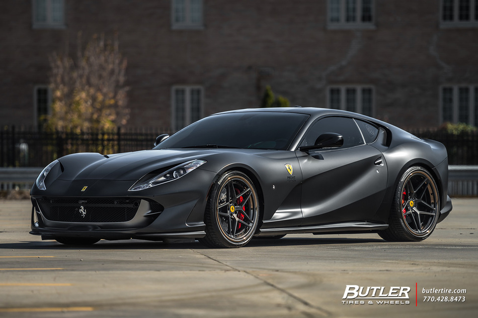 Ferrari 812 Superfast With 22in Ag Luxury Agl42 Wheels And Pirelli P Zero Tires 10