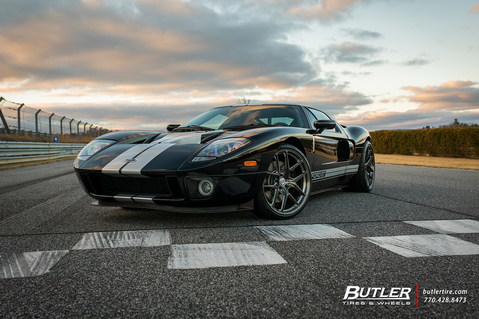 Ford Gt With 20in Hre R101 Lw Wheels And Pirelli P Zero Tires 4
