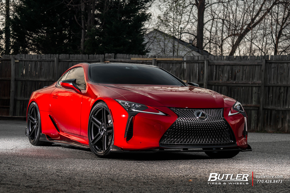 Lexus Lc500 With 22in Vossen Hf 1 Wheels And Pirelli Tires With Artisan Spirits Aero 2