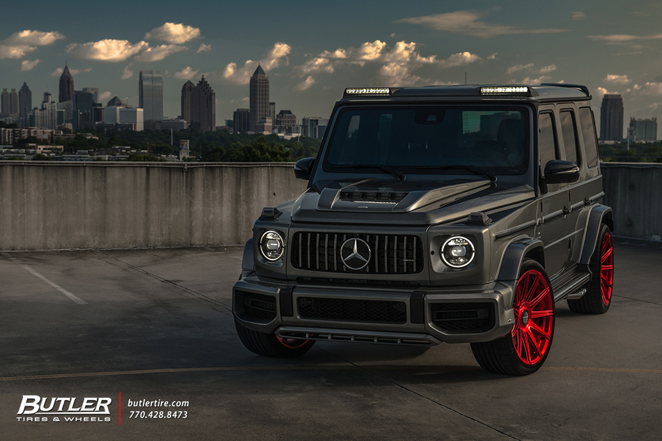 Lowered Lorinser Mercedes G63 With 23in Vossen S17 12 Wheels And Continental Tires 31