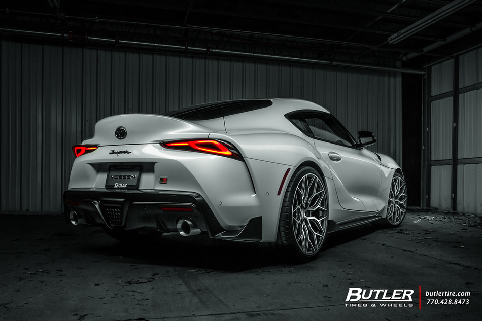 Toyota Supra With 22in Vossen Hf2 Wheels And Michelin Tires 10