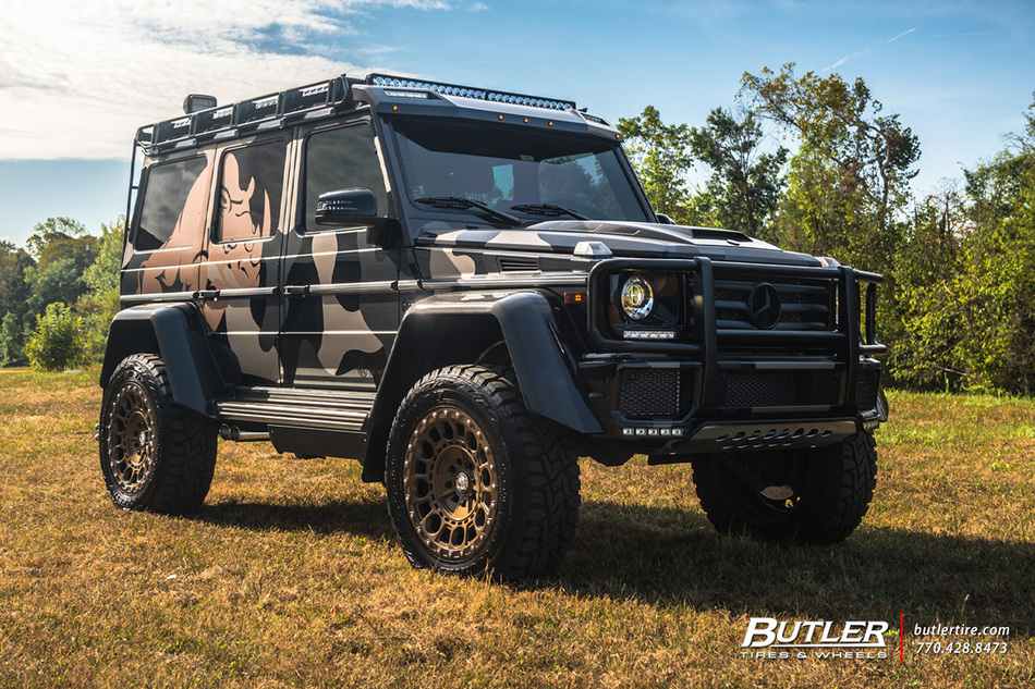 Mercedes 4x4 Squared With 22in Formula Defender Wheels And Toyo Rt Tires 2
