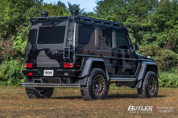 Brabus Camo Wrapped Mercedes 4x4 Squared with 22in Formula Defender Wheels and Toyo RT Tires