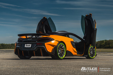 McLaren 600LT on Custom 20in and 21in HRE S200 Wheels