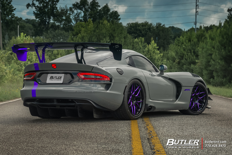 Dodge Viper Stryker Acr Extreme With 20in Front And 21in Rear Avant Garde F510 Wheels And Pirelli P Zero Tires 10