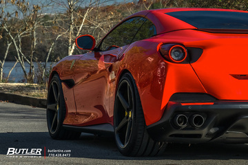 Ferrari Portofino with 20in Front and 21in Rear Vossen CG-201 Wheels and Michelin Pilot Sport 4S Tires with Capristo Exhaust