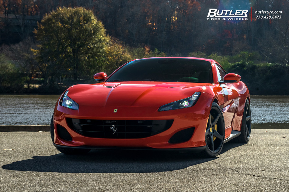 Ferrari Portofino With 20in Front And 21in Rear Vossen Cg 201 Wheels And Michelin Pilot Sport 4 S Tires And Capristo Exhaust 5