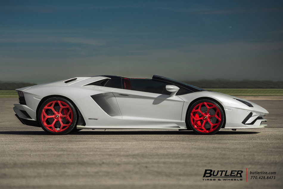 Lamborghini Aventador S Roadster With 21in Novitec Nl4 Wheels And Pirelli P Zero Tires 2
