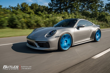 Porsche 992 911 Carrera S on iLectric Blue HRE 505M Wheels