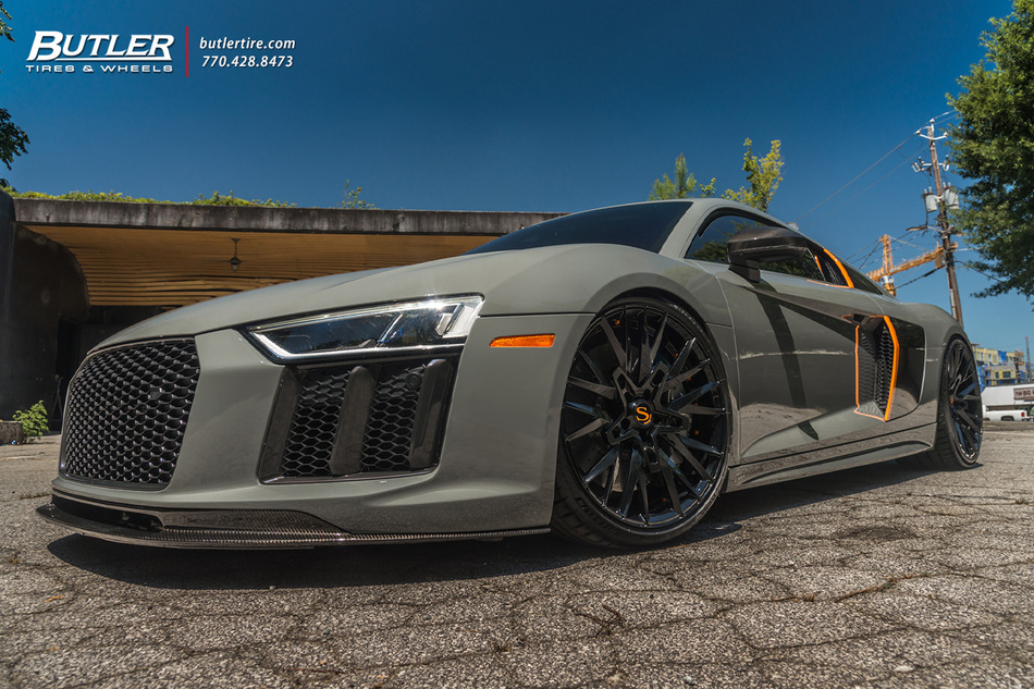 Audi R8 V10 With 20in Front And 21in Rear Savini Sv86 Wheels And Michelin Pilot Sport 4 S Tires   Harrison Nevel 2