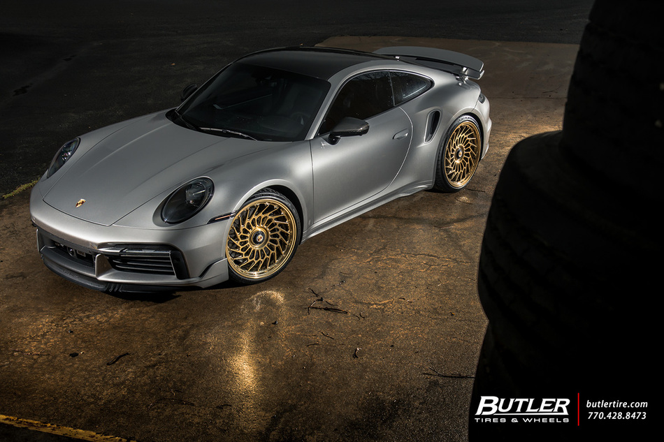 Porsche 992 911 Turbo S With 22in Vossen Ml R2 Wheels And Michelin Pilot Sport 4 S Tires 10